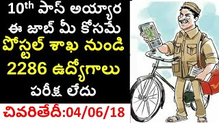 ap postal gramin dak sevaks 2018 | ap postal gds notification 2018 | 10th class jobs | ap gds jobs thumbnail