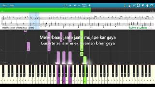 RAABTA (Easy to Advanced) || Piano Tutorial + Music Sheet + MIDI with Lyrics