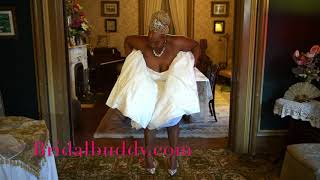 Bridal Buddy with a Hoop skirt!