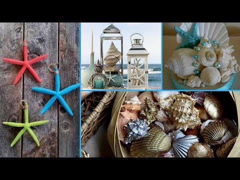 🐚Best DIY Summer Room Seashell Decor Ideas- Easy& Cute Ideas! Seashell decor 2017! Flamingo mango🐚