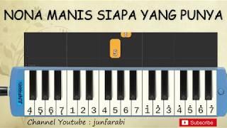 Gambar cover not pianika nona manis siapa yang punya - lagu daerah nusantara indonesia - belajar pianika