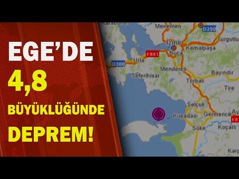 SON DAKİKA: Ege'de 4,8 Büyüklüğünde Deprem! / A Haber