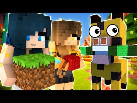 Minecraft - THIS GIRAFFE LOVES YOU! FUNNEH & GOLD BUILD STUFF!! (Minecraft Build Battle)