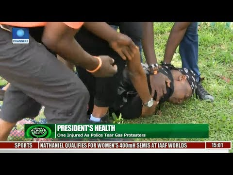 One Injured As Police Tear Gas Protesters On President Buhari's Health