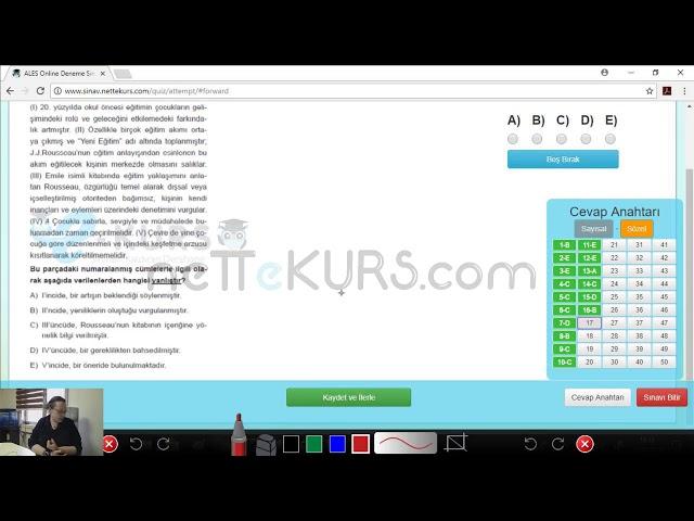 ALES Sözel Dersleri - Deneme - 3 / Online ALES Kursu - nettekurs.com - Uzaktan Eğitim Dershanesi