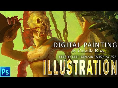 Layer by layer short demonstration tutorial for digital painted character