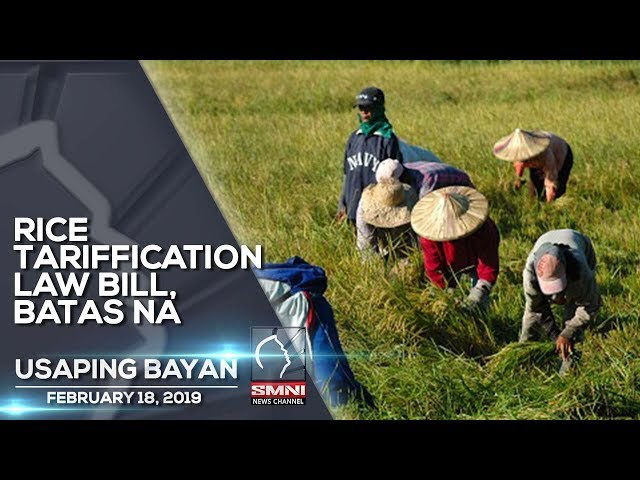 RICE TARIFFICATION LAW BILL, BATAS NA