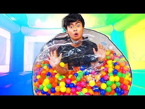 STUCK inside a GIANT BUBBLE with Pit Balls!