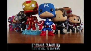 captain america civil war trailer funko pops version bobbleheads