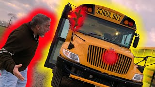 TURNED HIS SCHOOL BUS INTO A REINDEER!! HILARIOUS REACTION!! | ClawBoss