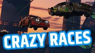 GTA 5 CRAZY NEW RACES - CUNNING STUNTS DLC ( GTA 5 FUNNY MOMENTS )