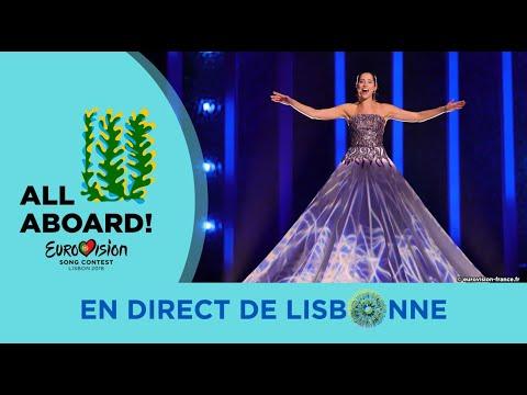 Elina Nechayeva  Estonia 2nd Rehearsal  Eurovision 2018 La Forza FULL Rehearsal, HD