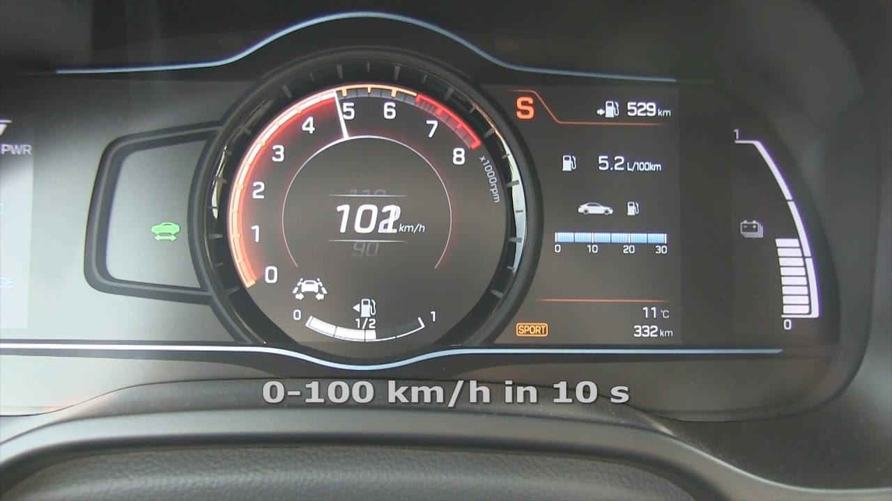 Hyundai Ioniq Hybrid Acceleration 0 100 120 Km H 50 1001cars