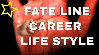 FATE LINE: Change in Career or Lifestyle Palm Reading Palmistry #87