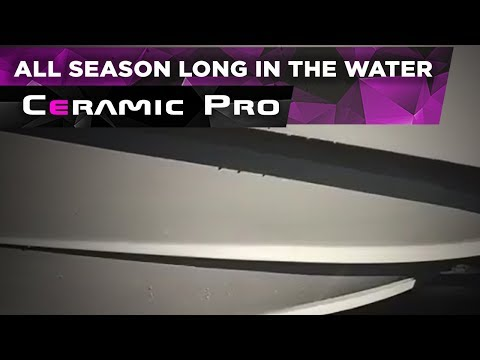 Crownline boat has received a long-lasting Ceramic Pro Marine protection