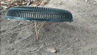 Arapuca feita com tampa de ventilador - Simples e fácil