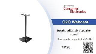 Height-adjustable speaker stand - Consumer Electronics show
