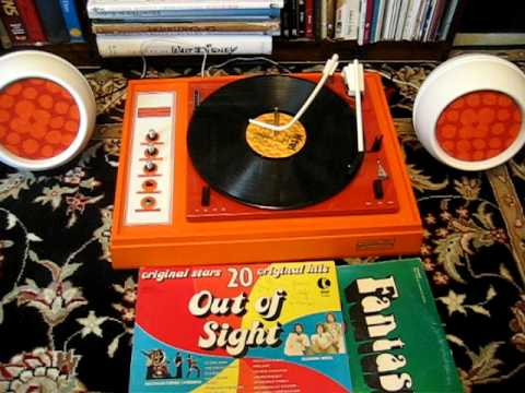 Voice of Music Orange Peel stereo record player