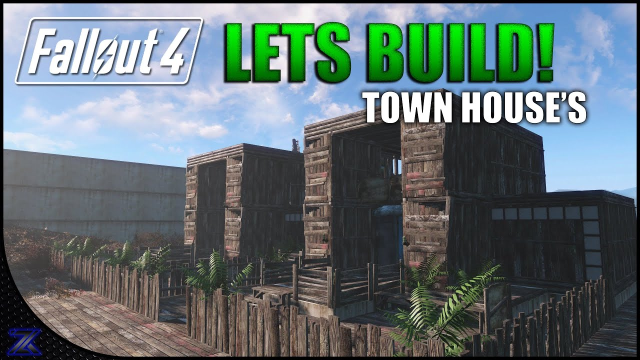 Fallout 4 lets build modern style townhouse 39 s for Fallout 4 bedroom ideas