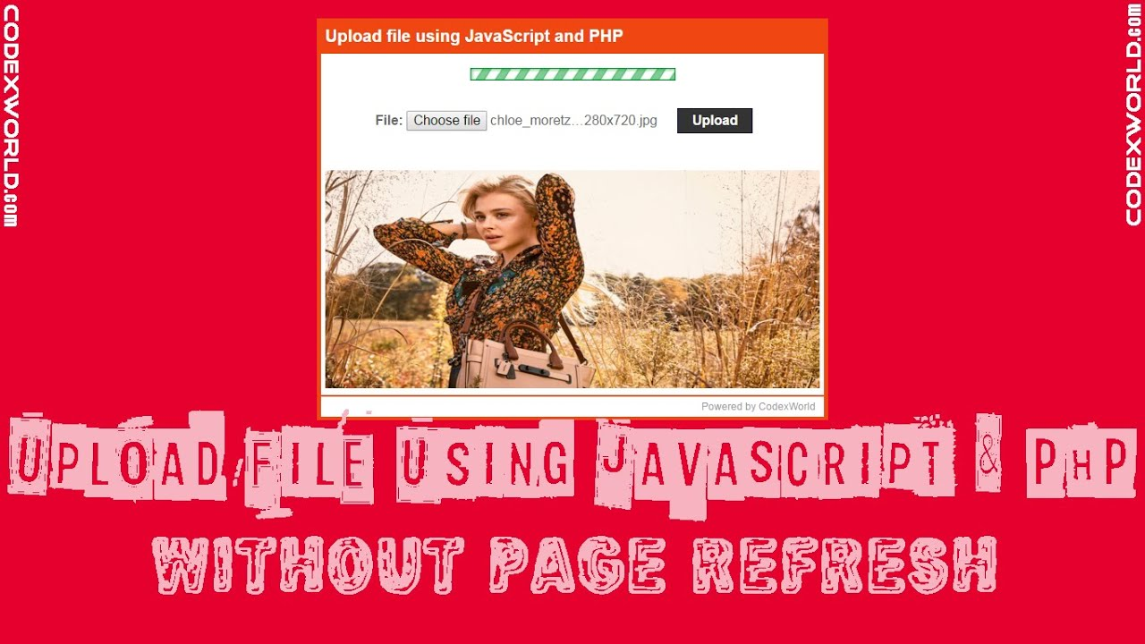 Upload file using JavaScript and PHP - CodexWorld