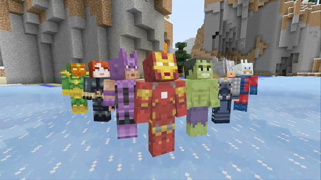 Minecraft Avengers add-on available now for Xbox 360 Edition