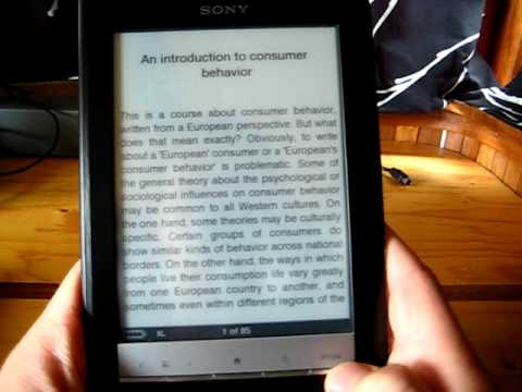 Sony PRS-600 eBook Reader Driver