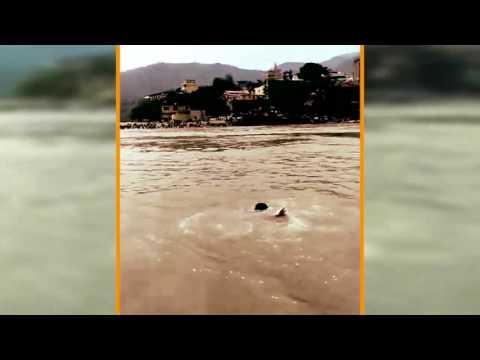 देखते ही देखते गंगा में डूब गया युवक, दोस्त II Delhi boy drowns in Ganga river rishikesh