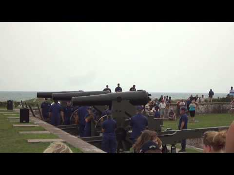 Fort Macon 32 Pounder Battery Fire Aug. 28, 2013