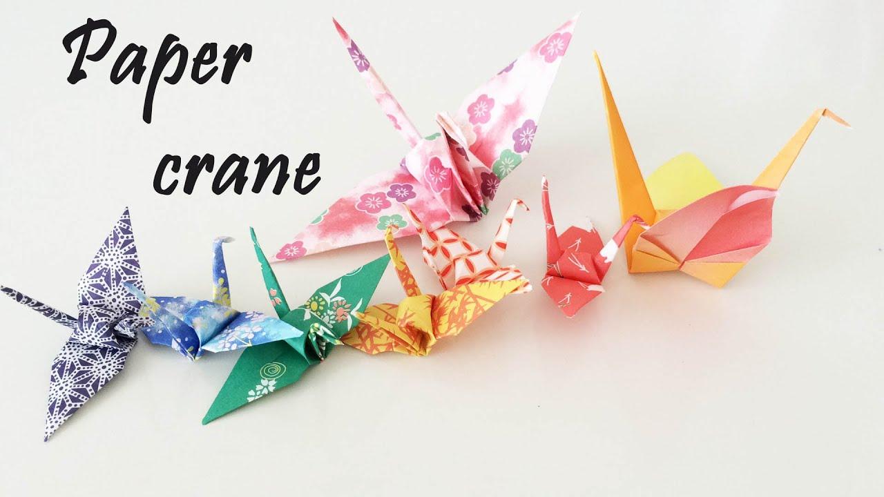 Origami - Crane tutorial - YouTube - photo#29