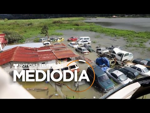 Imágenes aéreas muestran los estragos que dejó Eta en Guatemala   Noticias Telemundo