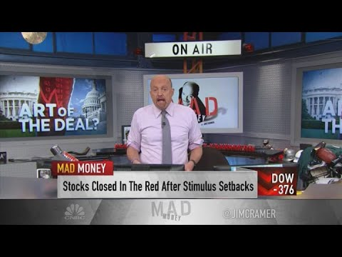 Jim Cramer reacts to failed stimulus talks: Forecasts will have to come down