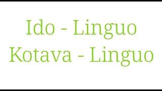 Komparo Ido-lingvo kaj Kotava-lingvo. ( la retejo – tatoeba, ido, esperanto )