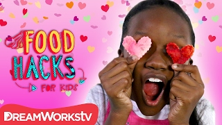 Heart Shaped Tortilla Chips + Valentine's Day Snack Hacks | FOOD HACKS FOR KIDS