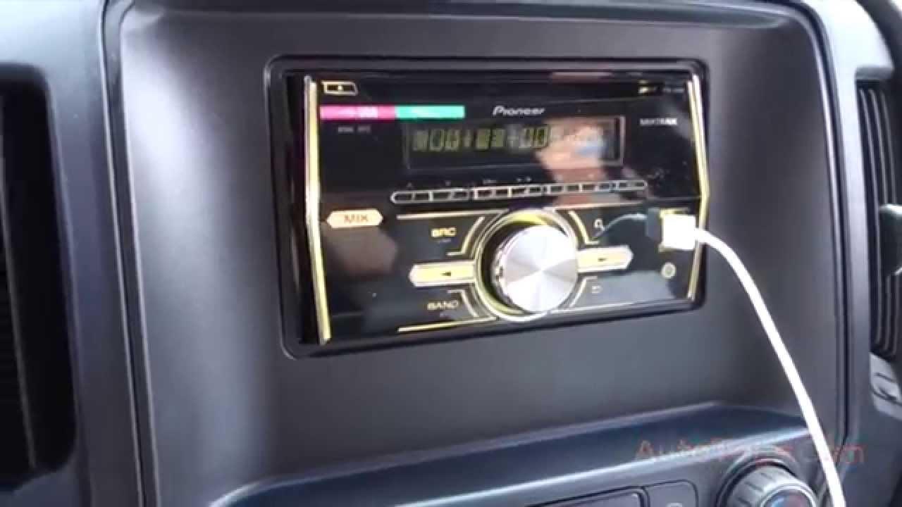 CHEVY SILVERADO 2014 PIONEER DOUBLE DIN RADIO USB FHX500UI  YouTube