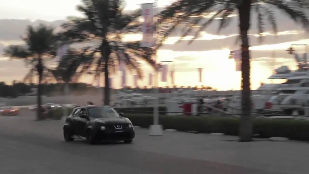 NISSAN JUKE-R vs SUPERCARS DUBAI STREET CHALLENGE 2012 ...