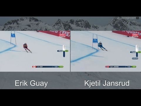 Erik Guay vs Kjetil Jansrud (St. Moritz - February 8, 2017)