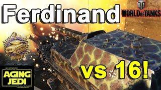 World of Tanks - Ferdinand vs 16 Enemies!