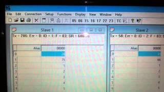 Mạng truyền thông MODBUS- 1 Master (PC)-2 Slave
