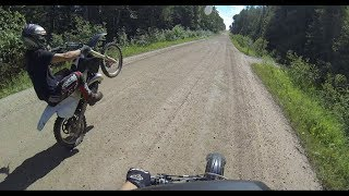 GoPro HD Honda cr250 and crf250r Wheelies