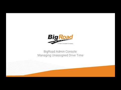 Admin - Managing Unassigned Drive Time