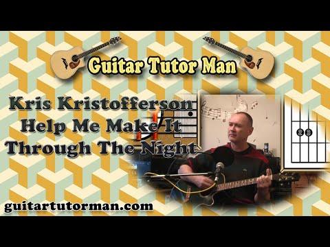 Help Me Make It Through The Night Kris Kristofferson Acoustic