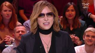 YOSHIKI - French TV interview - フランスTV出演映像 -guest star Quotidien 2017