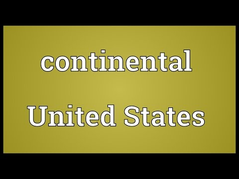 Continental United States Meaning