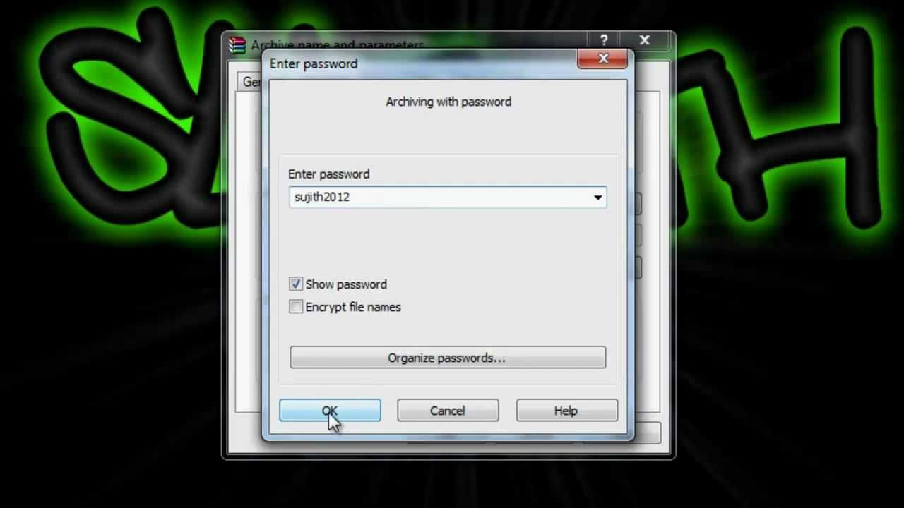 how to delete winrar password