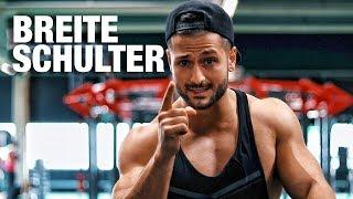 SO bekommst du BREITE SCHULTERN! | SCHULTER RICHTIG trainieren!