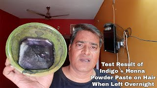 Indigo Powder natural hair dye || Indigo + Henna hair dye test results second attempt
