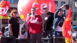 Manifestation contre la Réforme du Code du Travail Place de la Liberté Toulon Live TV 2017
