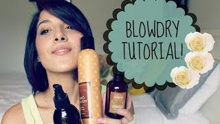 Blowdry Tutorial: Cibu Styling Products