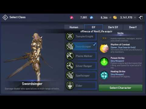 Lineage 2 Revolution Skill Set for Each Class Open Fortress Siege