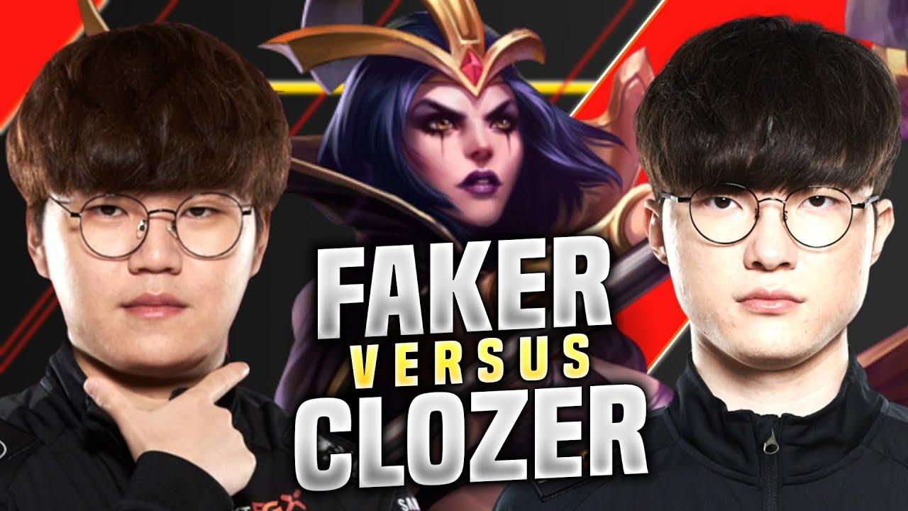 T1 Faker vs T1 Clozer - T1 Faker Leblanc vs T1 Clozer Sylas! | KR SoloQ Patch 10.15